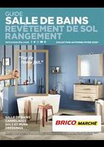 Prospectus Bricomarché : Guide Salle de Bains Revêtement de sol Rangement