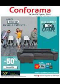 Promos et remises Conforama TREVENANS : Vouz méritez un bon canapé