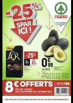 Promos et remises Spar : -25% Spar ici !