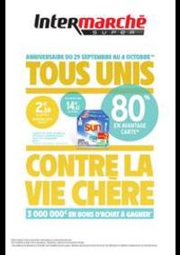 Promos et remises Intermarché Super Mehun-sur-Yevres : TOUS UNIS CONTRE LA VIE CHÈRE
