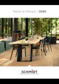 Prospectus Cuisines Schmidt ANDELNANS : Les tables et chaises 2020