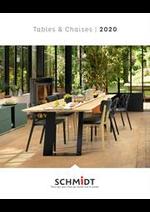 Promos et remises  : Les tables et chaises 2020