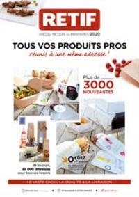 Prospectus Retif Antony : Métiers alimentaires 2020