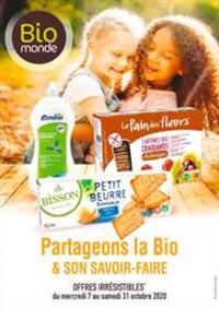 Prospectus Biomonde : Partageons la Bio & son savoir-faire