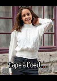 Prospectus Tape à l'oeil LA CHAPELLE SAINT AUBIN : Nouveautés Fille