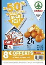 Prospectus Spar : -50% sur le 2ème, Spar ici !