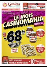 Promos et remises Supermarchés Casino Cergy : Le mois Casinomania