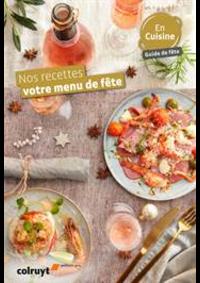Prospectus Colruyt HALLE : Nos recettes votre menu de fête