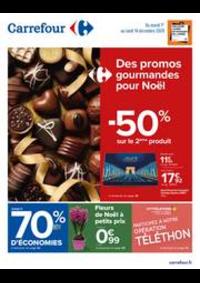 Prospectus Carrefour École-Valentin : Des promos gourmandes pour Noël