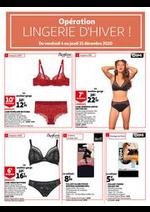 Prospectus Auchan : Opération Lingerie d'hiver !