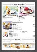 Promos et remises  : Desserts and Children's Menu