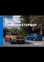 Prospectus Dacia : Nouvelles Dacia Sandero & Sandero Stepway