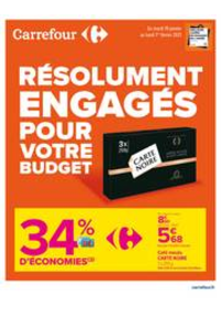 Prospectus Carrefour MARGENCEL : RESOLUMENT ENGAGES POUR VOTRE BUDGET