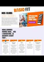 Prospectus Basic-Fit : Nos clubs sont fermés!