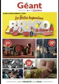 Prospectus Géant Casino PONTARLIER : Les belles inspirations brico & déco