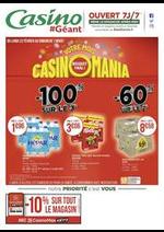 Promos et remises Géant Casino : Votre mois Casinomania