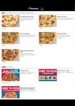 Prospectus Domino's pizza : La carte