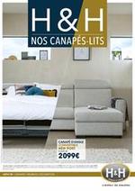 Prospectus H&H : Nos canapés-lits