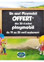 Prospectus La grande Récré : Un œuf Playmobil offert