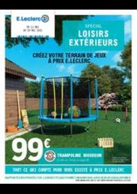 Prospectus E.Leclerc SAINT PARRES AUX TERTRES : Spécial loisirs extérieurs