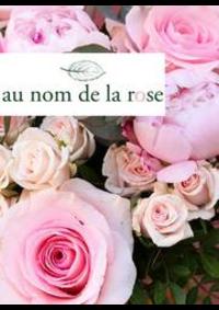 Prospectus Au nom de la rose Paris 5 rue de Lourmel : Nouveautés