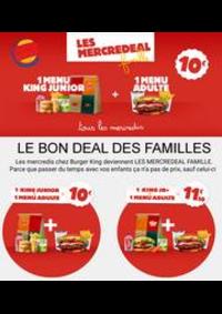 Prospectus Burger King St-Lazare Paris : LE BON DEAL DES FAMILLES