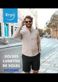 Prospectus Krys PONTARLIER : SOLDES LUNETTES DE SOLEIL HOMME