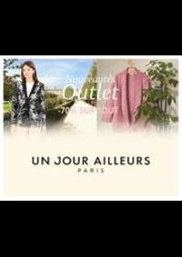 Prospectus Un jour ailleurs PARIS 126 RUE DE RENNES : Nouveautés Outlet -70% sur TOUT