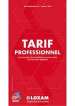 Prospectus Loxam : Tarif Professionnel 2021
