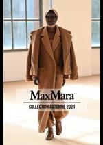 Prospectus Max Mara : Collection Automne 2021