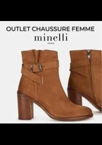 Prospectus Minelli Paris 34 rue de la verrerie : OUTLET CHAUSSURE FEMME