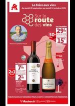 Prospectus Auchan : Sur la route des vins