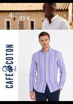 Prospectus Café Coton : Café Coton 4 Chemises 99€