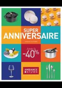 Prospectus Ambiance & styles  PONTARLIER 89 rue de la République : Super Anniversaire