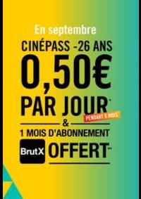 Prospectus Gaumont Pathé! La Plaine Saint Denis : CinéPass