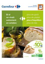 Prospectus Carrefour : Et si on vivait autrement en Octobre