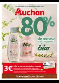Prospectus Auchan PUTEAUX : 80% de remise sur le 2ème produit au choix de la gamme douche et savon